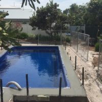 Concreting for pool and pool surrounds