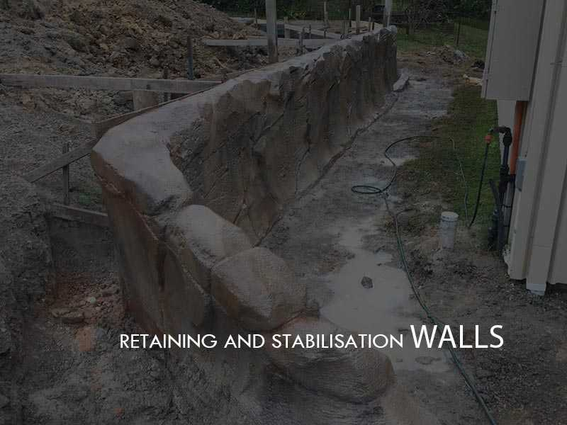 Full Throttle Concrete constructions - Retaining Stabilization Walls